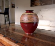 Vase on coffee table