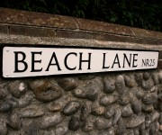 Beach Lane sign